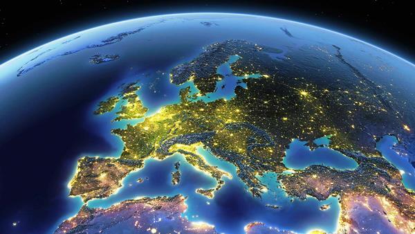 Европа вид из космоса