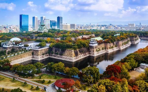 вид на замок Осака