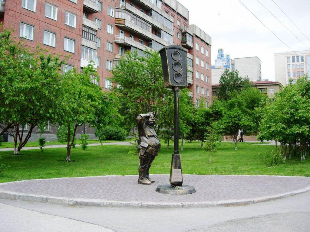 Памятник Светофору в Новосибирске
