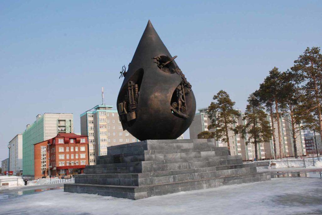 """Памятник """"Капля Жизни"""" г Когалым"""