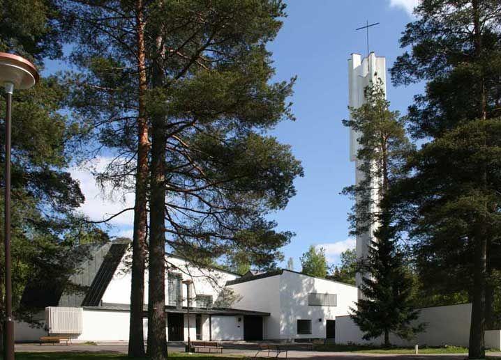 Лютеранская церковь Трёх Крестов в Иматре