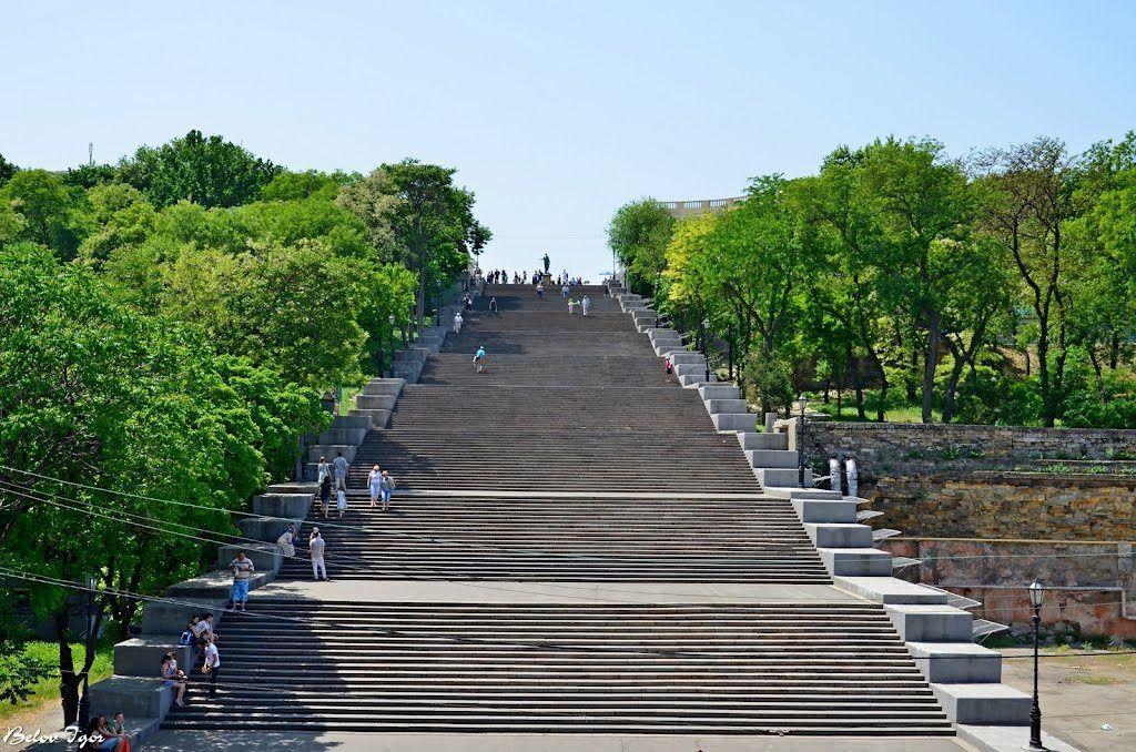 Потемкинская лестница в городе Одесса