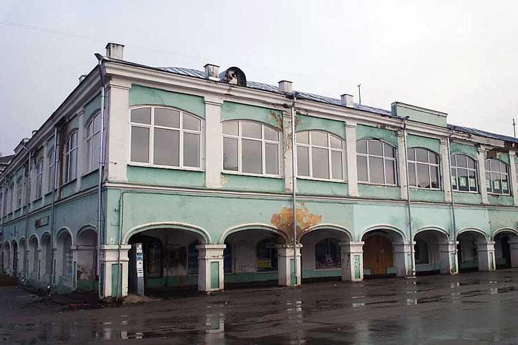 г. Мценск, Торговые ряды в историческом центре