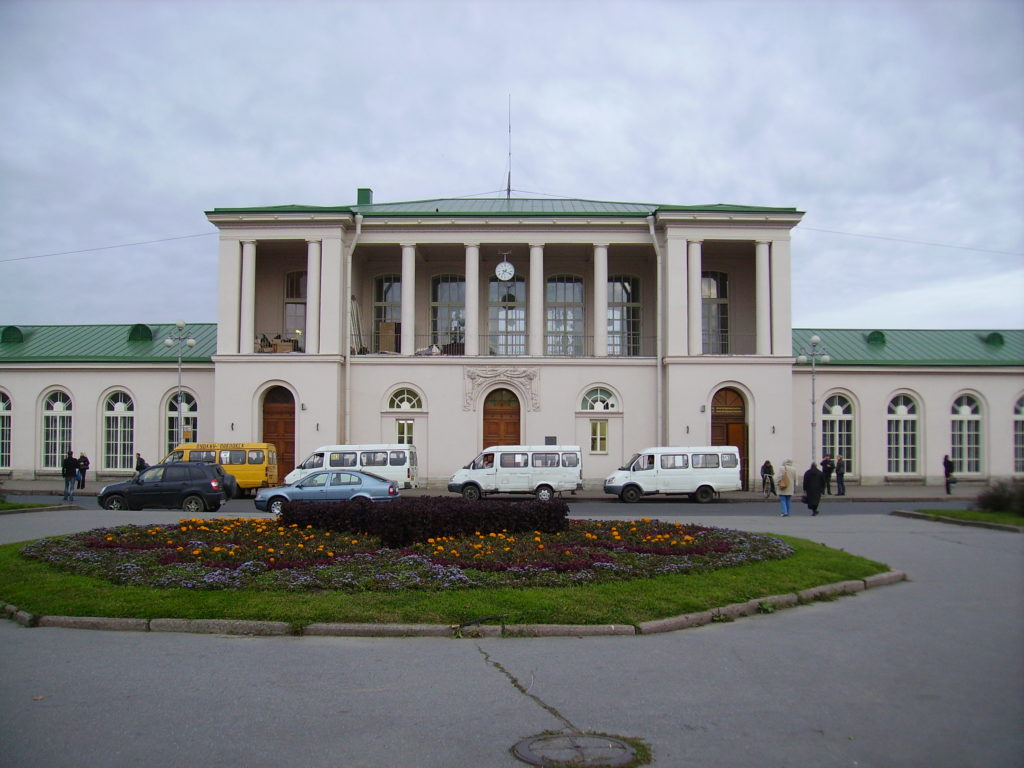Ж/д станция города Пушкин