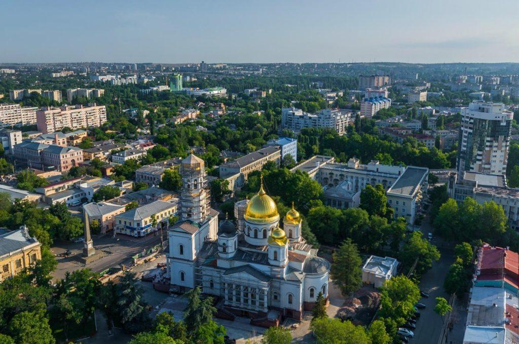 Вид на Симферополь с высоты