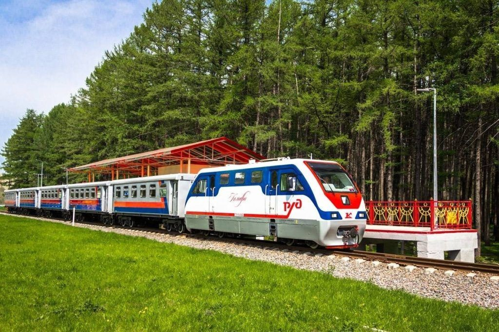 Детская железная дорога в Новомосковске