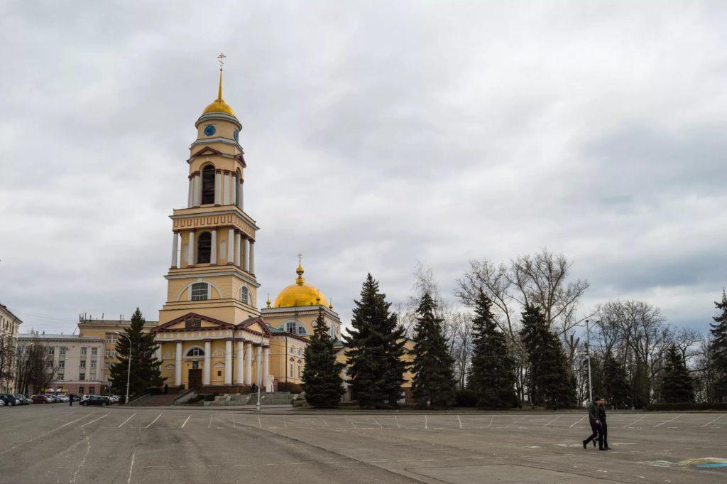 Соборная площадь в городе Липецк