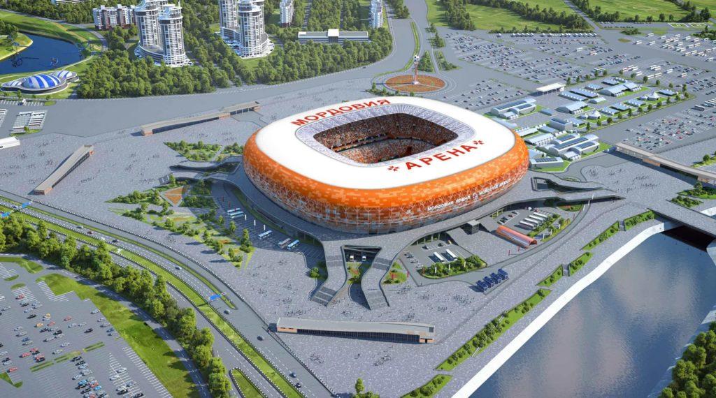 Макет нового стадиона в Саранске