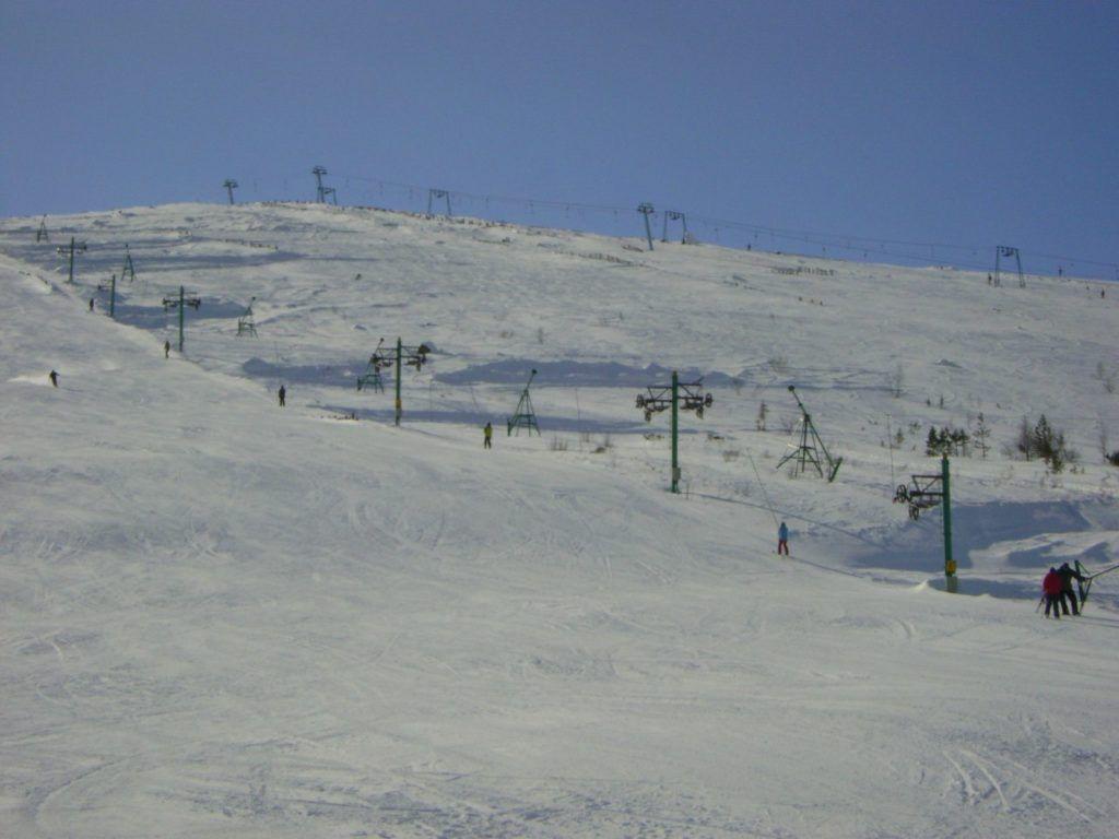 Трассы горнолыжного комплекса, г.Мончагорск