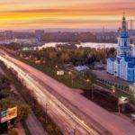 Город Ульяновск в России ( Вид на Спасо-Вознесенский кафедральный собор)