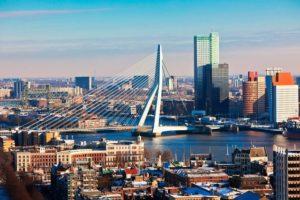 Город Роттердам в Нидерландах