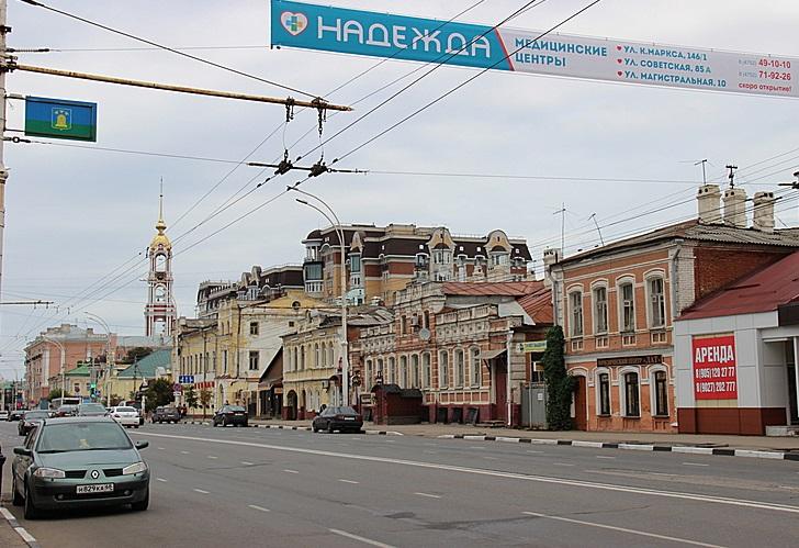 Улица Советская в Тамбове