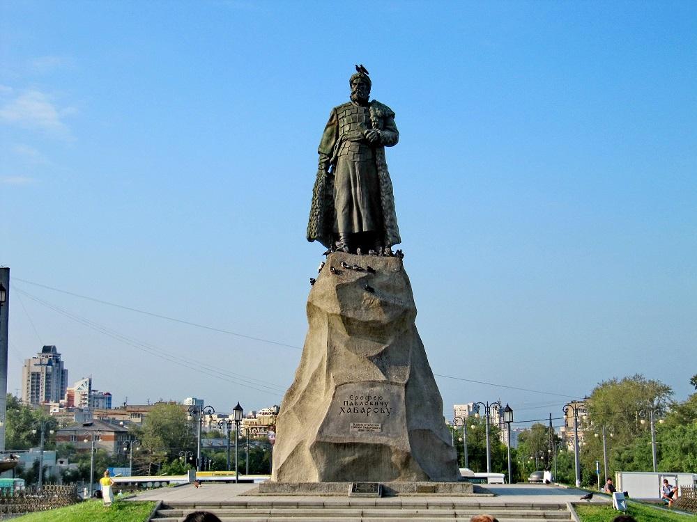 Памятник Ерофею Павловичу Хабарову в г. Хабаровск