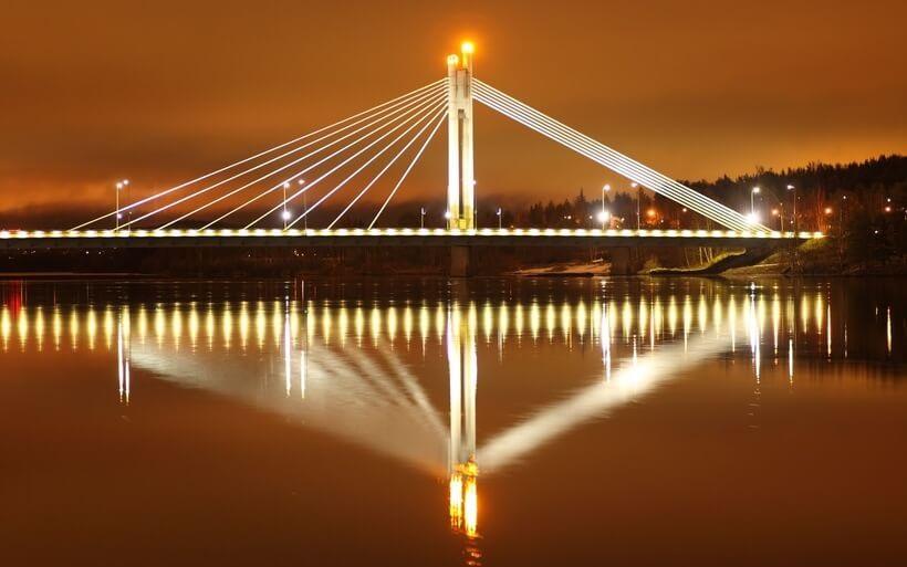 Мост «Яткянкюнттиля», Рованиеми, Лапландия