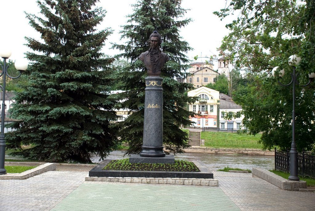 Памятник архитектору Н.А.Львову в Торжке