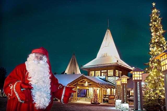 Деревня Санта-Клауса близ Рованиеми, Лапландия