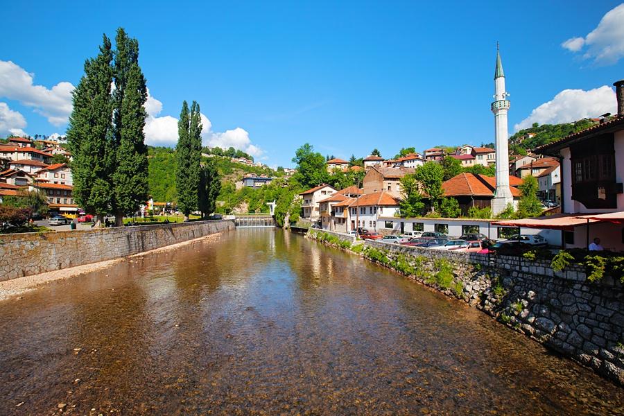Город Сараево - столица Боснии и Герцеговины