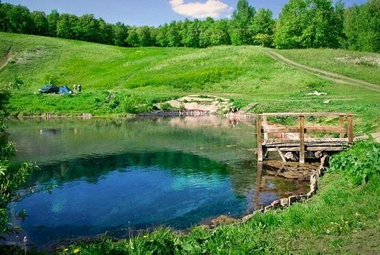 Голубое озеро близ Уфы
