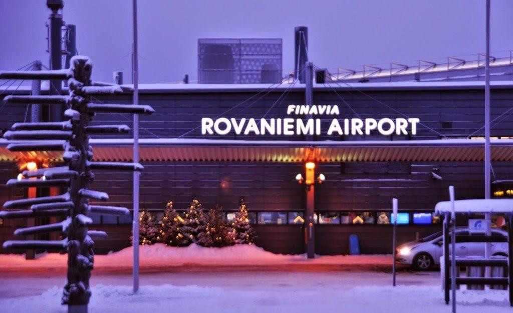 Аэропорт в Рованиеми, Лапландия