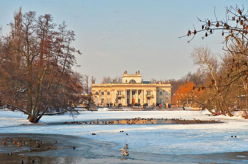 Парк Лазенки зимой, Варшава