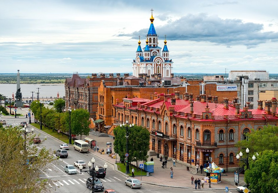 Хабаровск на картинках, открытка