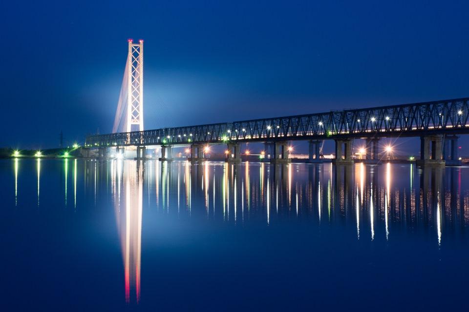 Сургут, Висячий вантовый мост