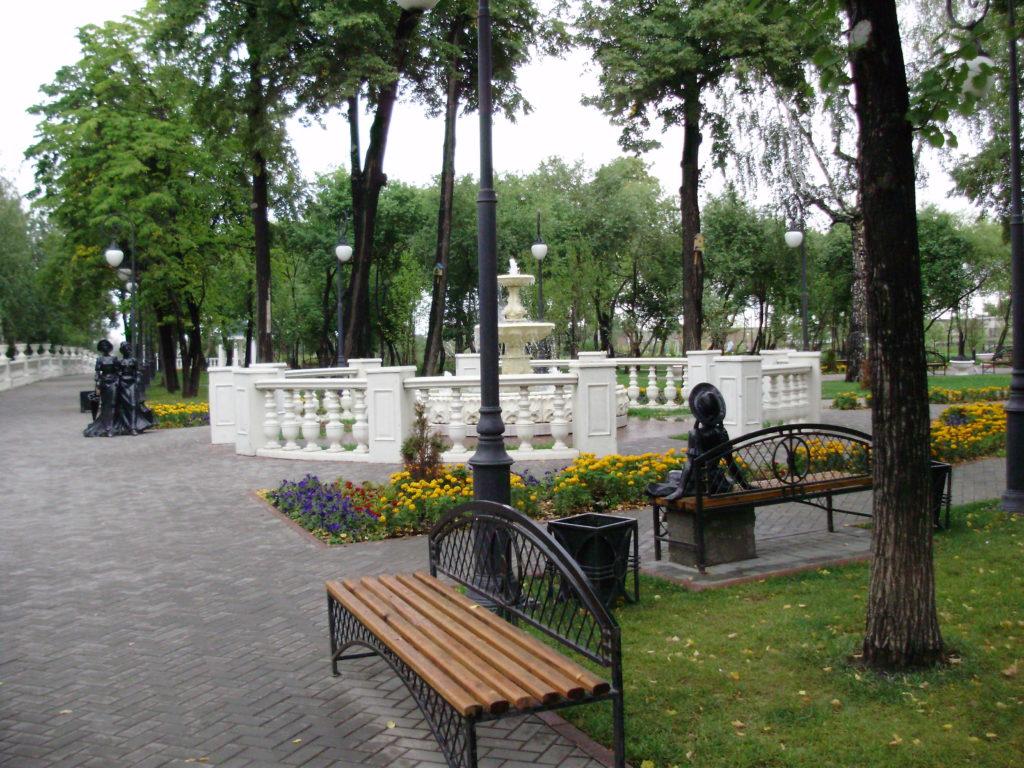 Александровский сад в Тюмени