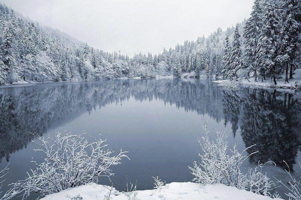 Озеро Синевир зимой, Колочава, Закарпатье
