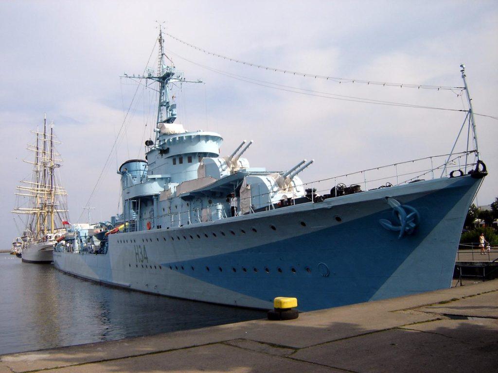 Корабль-музей «Блыскавица» в Гдыне