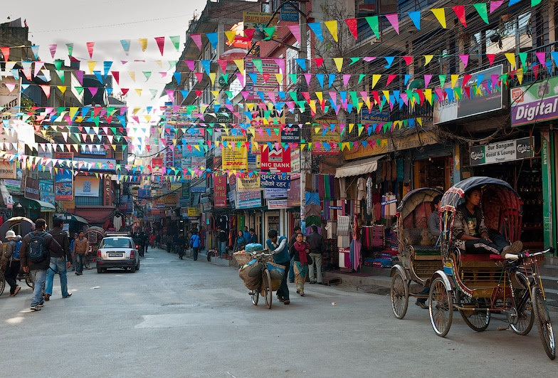 Район Тамель в Катманду