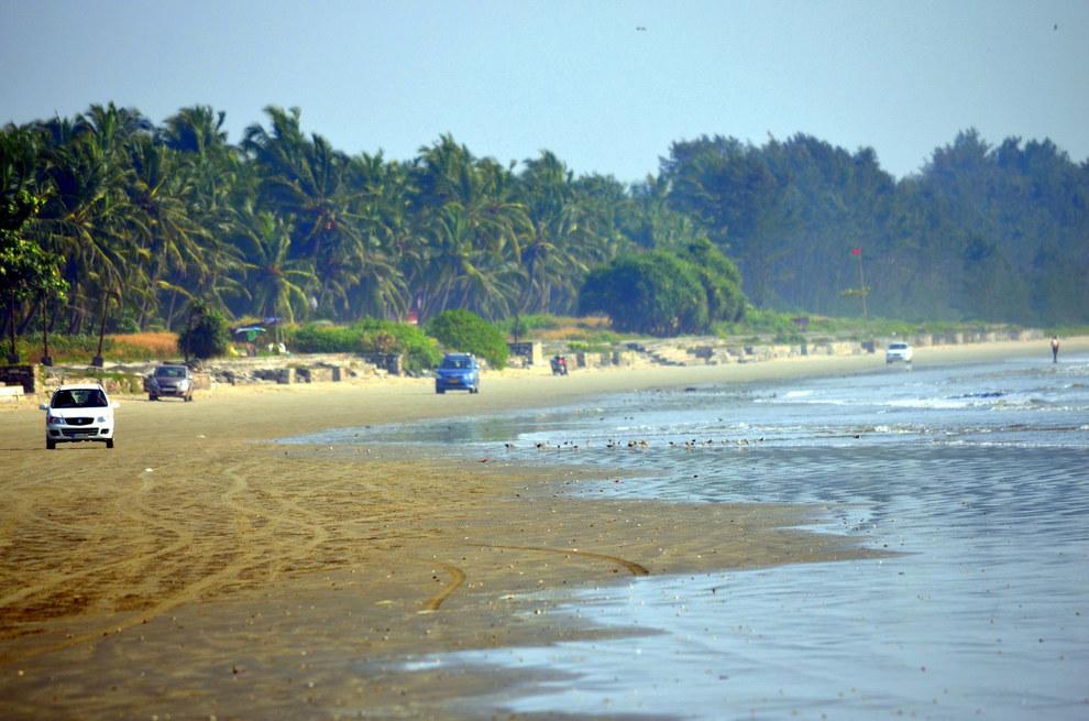 Пляж Мужаппилангад в Керале