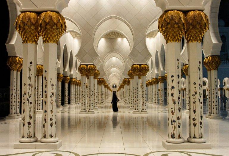 Мечеть шейха Зайда внутри, г. Абу-Даби