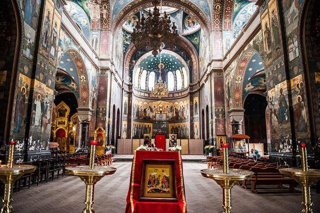 Внутреннее убранство Новоафонского монастыря