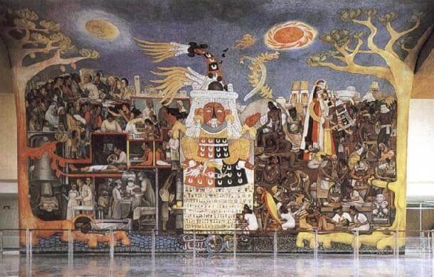 Фреска в музее Диего Риверы, Мехико