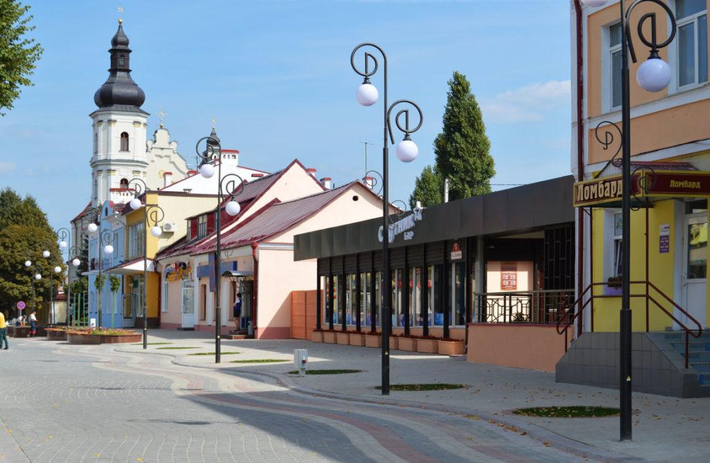 Улица Ленина в Пинске