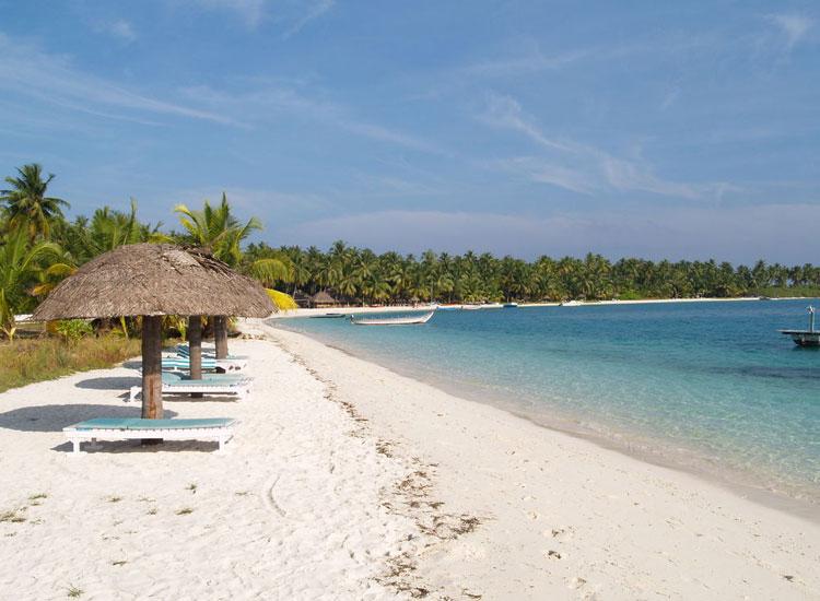 Пляж острова Банграм, Лакшадвипские острова