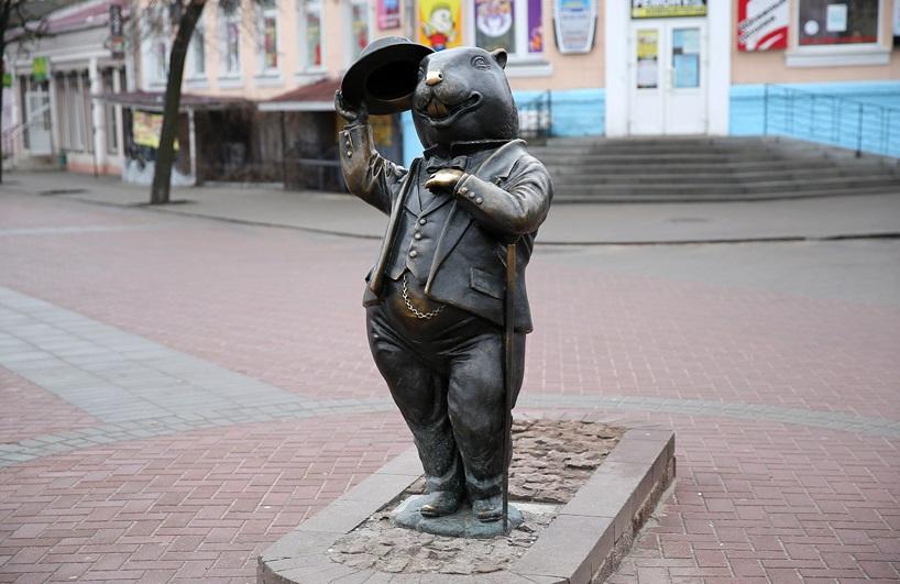 Сульптуры бобра в Бобруйске