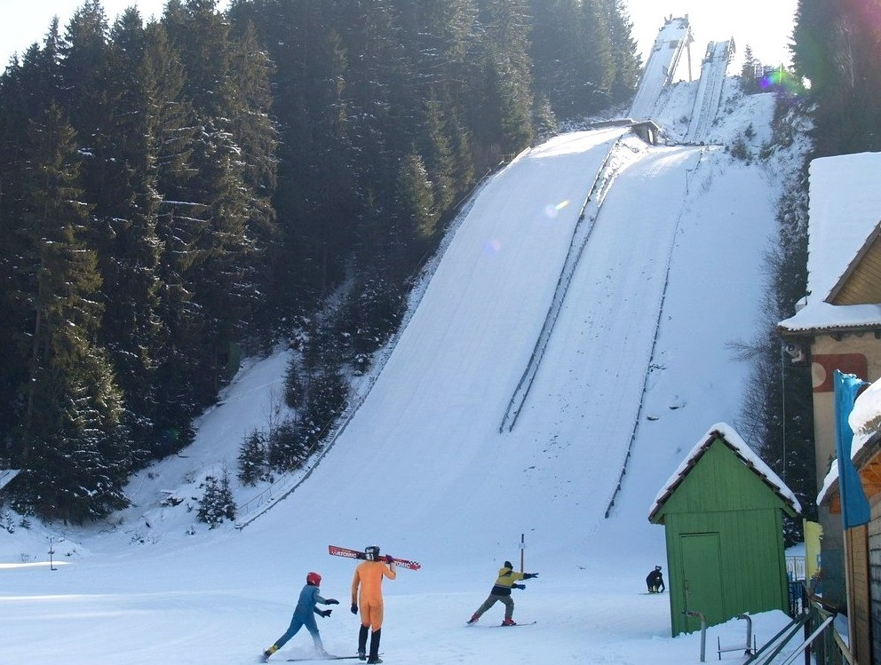 Зимний курорт Ворохта в Карпатах