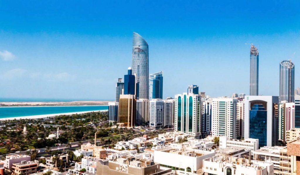 Город Абу-Даби в ОАЭ