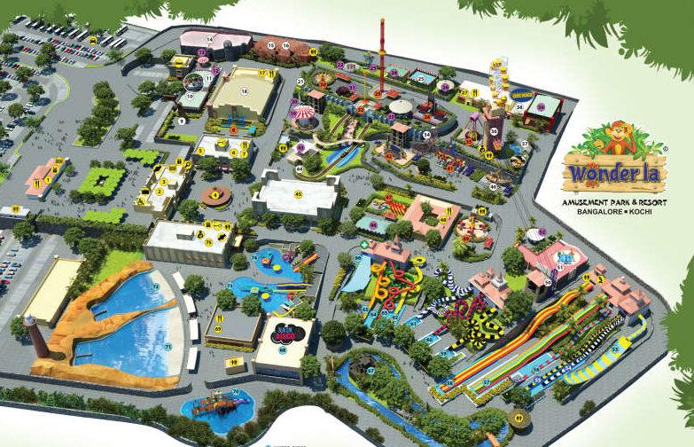 """Парк развлечений """"Wonderla Amusement Park"""" в Коччи, Керала"""