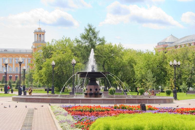 Площадь графа Сперанского в Иркутске