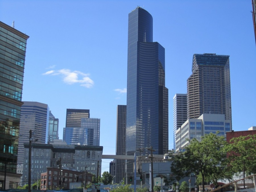 Небоскреб Коламбия-центр в Сиэтле, США