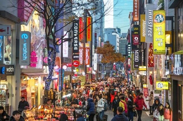 Улица Мёндон в Сеуле