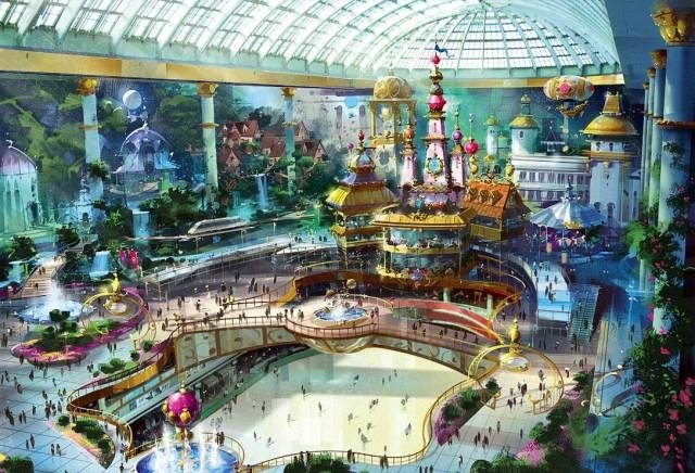 Парк аттракционов «Lotte World» в Сеуле