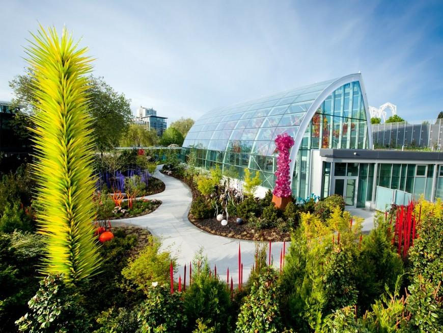 Стеклянный сад Дейла Чихули в Сиэтле