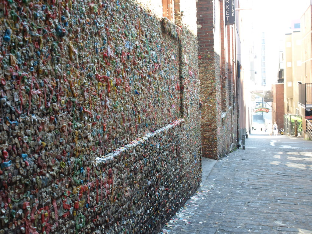 Стена жевательной резинки, г. Сиэтл