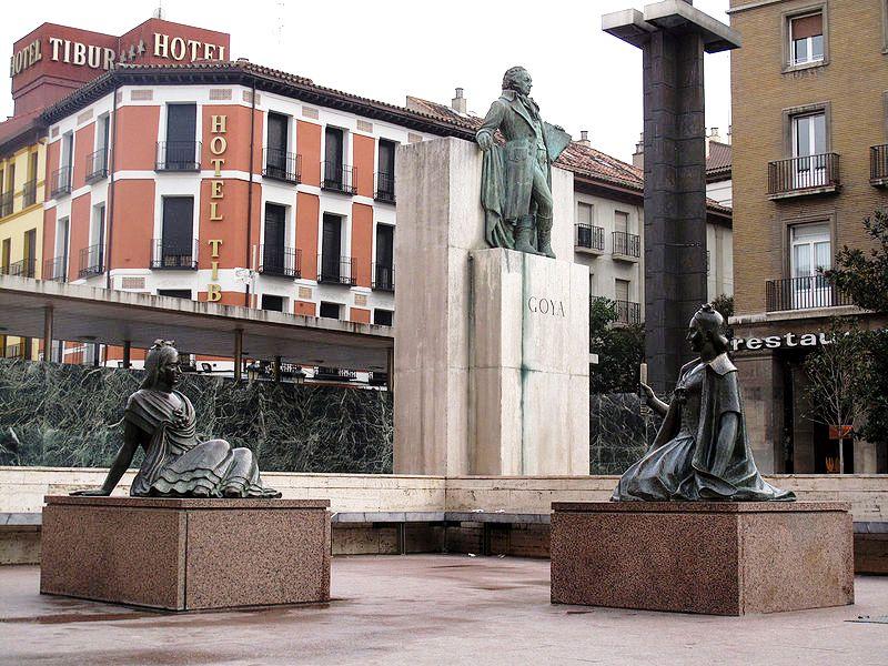 Памятник Гойе, Сарагоса