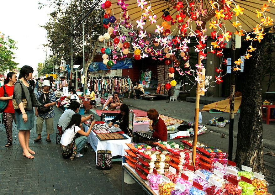 Воскресный рынок в Чиангмае