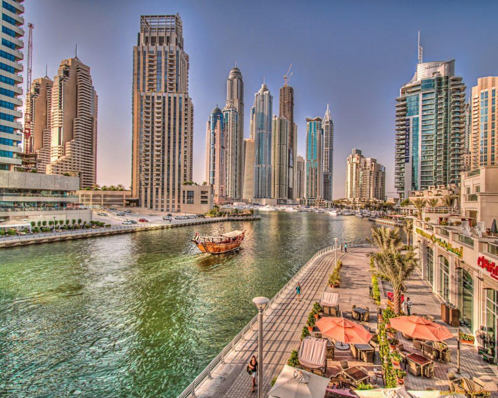 Город Дубай в ОАЭ