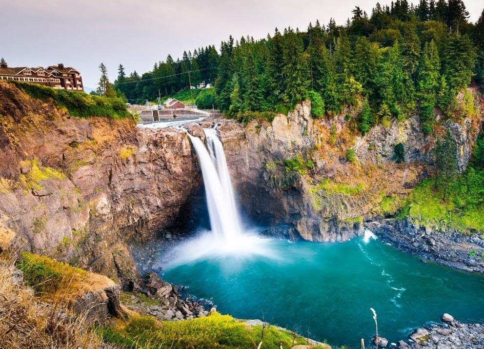 Водопад Сноквалми близ Сиэтла